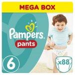Pampers Pants 6 Extra Large 16+ kg 88 ks