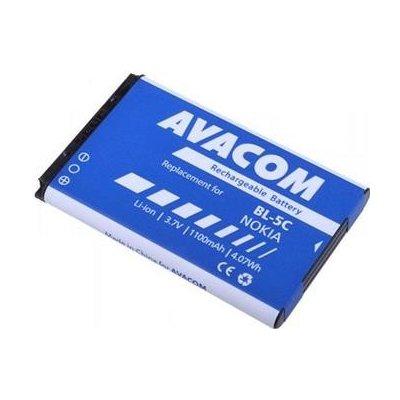 Náhradní baterie AVACOM Baterie do mobilu Nokia 6230, N70, Li-Ion 3,7V 1100mAh (náhrada BL-5C) - GSNO-BL5C-S1100A