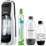 SodaStream JET Black&Silver + Bombička CO2 + 1x lahev