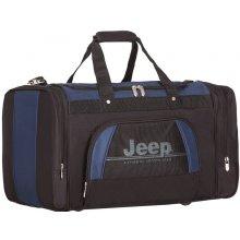 Jeep 762 Deluxe lehká taška 33x49x33 cm 53 l černá/modrá