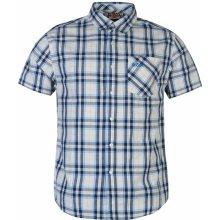 Lee Cooper Hoxton Short Sleeve Check Shirt Mens White