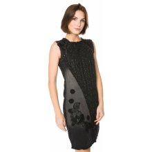 Desigual šaty dámské Achille černá c25a1f0b197