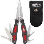 BESSEY DMT-SET - Multifunkční nástroj + nůž + hliníková svítilna 4xLED