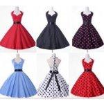 Retro šaty s puntíky - více barev