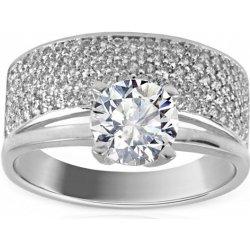 Zlatý zásnubní prsten Tiffany big white IZ8893A alternativy - Heureka.cz e15b27fbc20