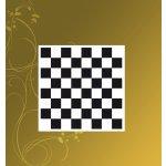 Šachovnice č.6 černá bez popisu vhodná na Šachy a Dámu