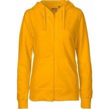 Neutral Dámská mikina se zipem a kapucí žlutá f097c5999a