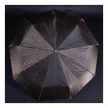 Luxusní dámský skládací deštník Kim tmavě hnědý