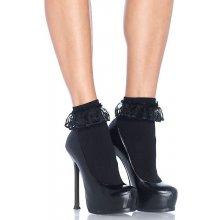 Leg Avenue ponožky s krajkou 3013 černé