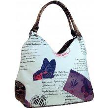 kabelka v anglickém stylu 1593 fialovo- bílá