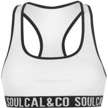 SoulCal Branded Bikini Top Ladies bílá