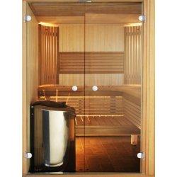 Harvia STRAIGHT 14 X 21 - Dveře do sauny Osika /Olše, Sklo bronze nebo čiré