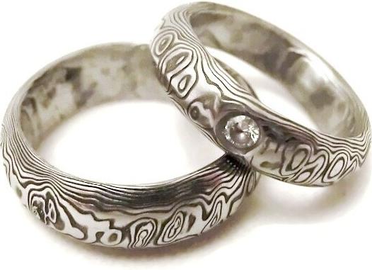 Snubni Prsteny Kovana Nerezova Ocel Damasteel Da 1013 Alternativy