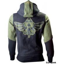 Nintendo Zelda Pánská mikina s kapucí pulovr zeleno-černá