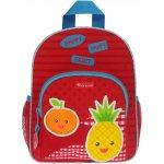 KIDZROOM batoh Veggies s kapsou mandarinka,červený