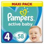 Pampers Active Baby-Dry 4 Maxi 7-18 kg 58 ks