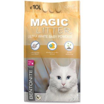 Magic Cat Magic Litter Bentonite Ultra White Baby Powder 10 l
