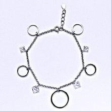 Čištín Stříbrný náramek s čirými zirkony 6079