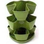 PROSPERPLAST COUBI květináč 29,5x29,5x38cm, zelená DKN3003