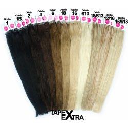 czVlasy.cz Asijské vlasy na metodu TAPEX EXTRA odstín 613 Délka  50 ... 24842b9aaa