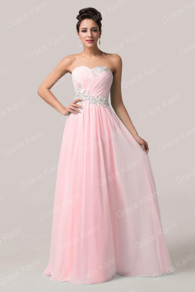 dadb9c3a9dd Plesové šaty Grace Karin šaty na ples CL6107-2 růžová - Seznamzboží.cz