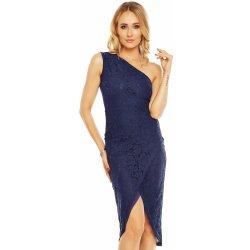 c25bb687fe39 Dámské společenské a plesové krajkové šaty tmavě modrá alternativy ...
