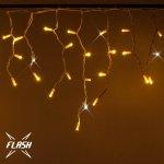 LED světelné krápníky - 4,5x0,6m, 204 teple bílých diod s Flash, bílý kabel