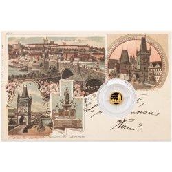 Česká mincovna Zlatá mince Praha Karlův most 0,5 g