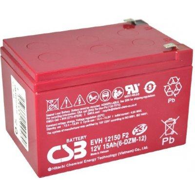 CSB 12V 15Ah olověný akumulátor DeepCycle AGM F2 (EVH12150F2)