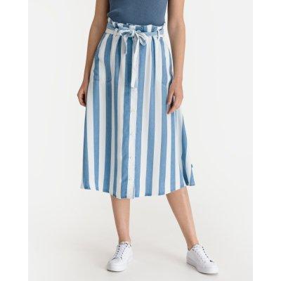 Lee Button Front sukně dámské modrá bílá