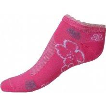 ceaa52f27d2e Knebl Hosiery Dívčí ponožky růžové s kytičkami