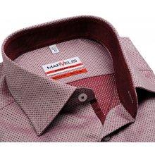 Marvelis Modern Fit – košile s červeno-bílým vetkaným vzorem - prodloužený  rukáv 4e6fe7aac6