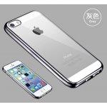 Pouzdro Telekryty Silikonové - Metal Ring iPhone 5 / 5S / SE stříbrné