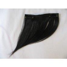 Clip-in ofina na bok, černá (01), lidské vlasy