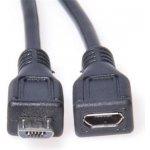 PremiumCord Kabel prodlužovací micro USB 2.0 male-female, černý 2m ku2me2f