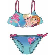 Disney by Arnetta Dívčí dvoudílné plavky Frozen tyrkysové