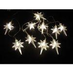 LED vánoční řetěz teplá bílá – HVĚZDIČKY NA BATERKY 32308 délka 1,4 m , IP44 pro venkovní i vnitřní použití