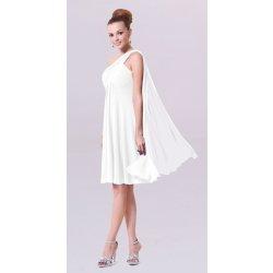 23c383fb4f5 Dámské svatební šaty Krátké svatební šaty na rameno i pro těhotné bílá