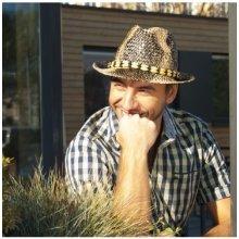 Slaměný klobouk pánský styl - krokodýl originál Karpet 70022