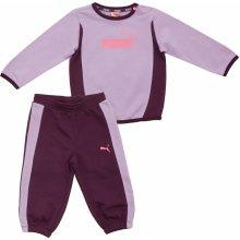 Puma ESS Infant Crew Jogger fialová