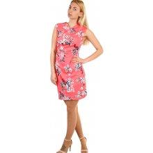 TopMode dámské květované šaty zavinovací efekt korálová f45ad7502cb