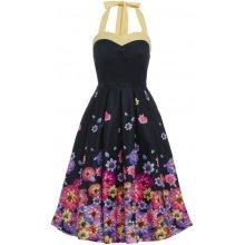 b4fa84b3ddb Lindy Bop retro dámské šaty Carola black blossom