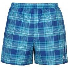 Slazenger checked Swim shorts Mens blue check