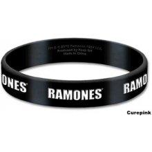 CurePink silikonový náramek Ramones: Logo černý RAGUM01