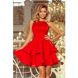 a31ec3ae0433 Numoco krajkové šaty s dvojitou sukní 205-1 červená od 995 Kč ...