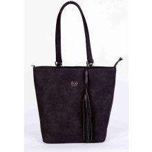 Ego stylová broušená kabelka černá