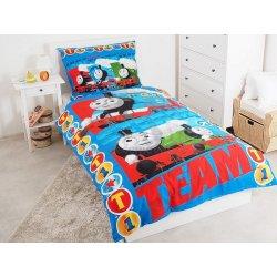 Jerry Fabrics bavlna povlečení Mašinka Tomáš Steam Te 140x200 70x90