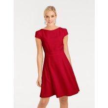 heine TIMELESS koktejlové šaty s detailem skladů červená a52b8adabe