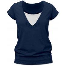 Jožánek kojící tričko Karla krátký rukáv jeans modrá