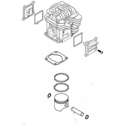 OleoMac Válec kompletní Oleo-Mac GS520 originál 50080114A